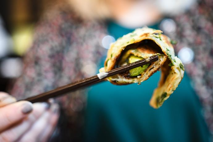 """Excited to try something new? [Go for this Spring Onion Pancake recipe](http://www.foodtolove.com.au/recipes/chinese-roast-duck-with-green-onion-pancakes-21313 target=""""_blank"""")!"""