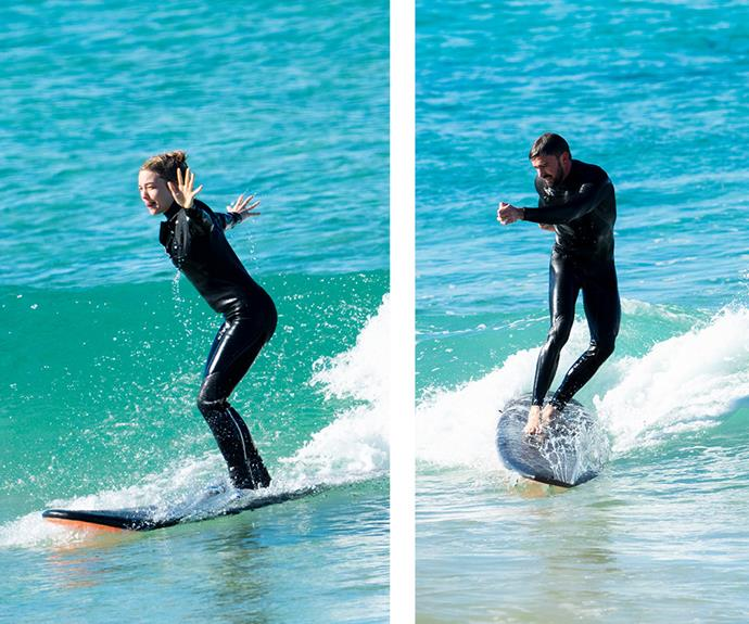 The couple that surfs together, stays together. *(Exclusive images: Matrix)*
