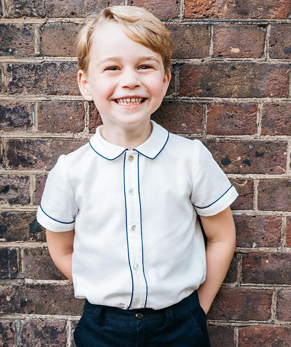 The smiling prince on his fifth birthday, captured by Matt Porteous