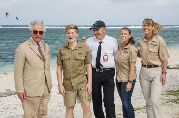 Aussie royalty meets actual royalty! With her mum and brother, Bindi had the opportunity to meet Prince Charles to talk about preserving the Great Barrier Reef.