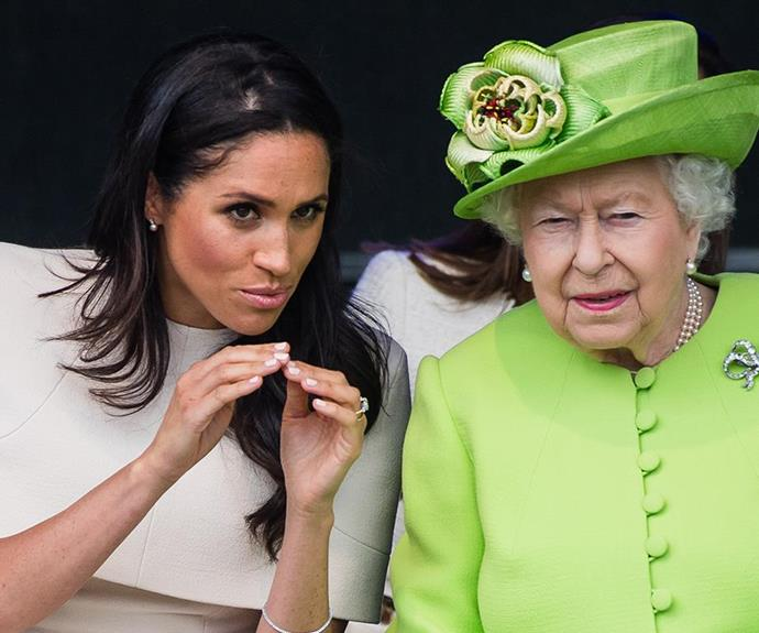 Hats off to her! Meghan Markle was reportedly advised to wear a hat for her first joint appearance with the Queen last month, but she went bare-headed.