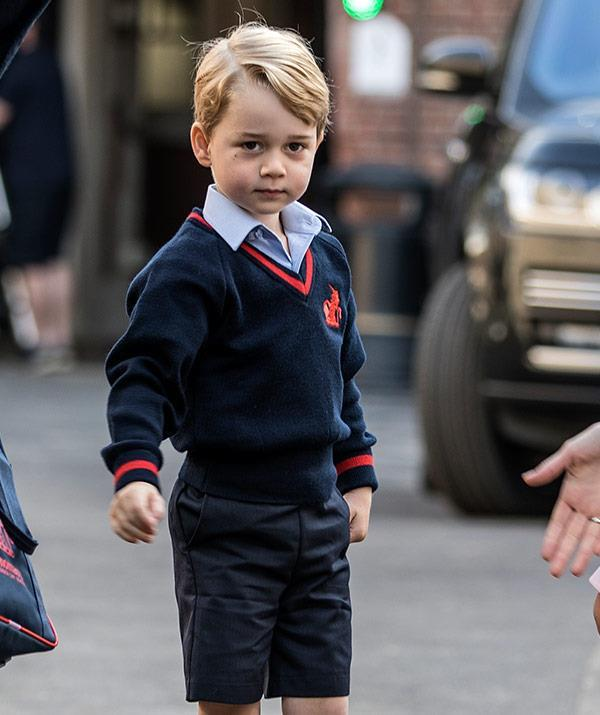 """Prince George """"loves"""" going to big school."""