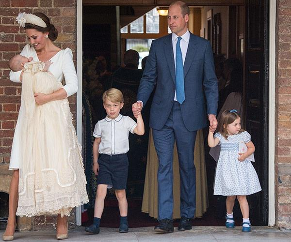 Prince William and Duchess Catherine are pictured together for the first time as a family-of-five.