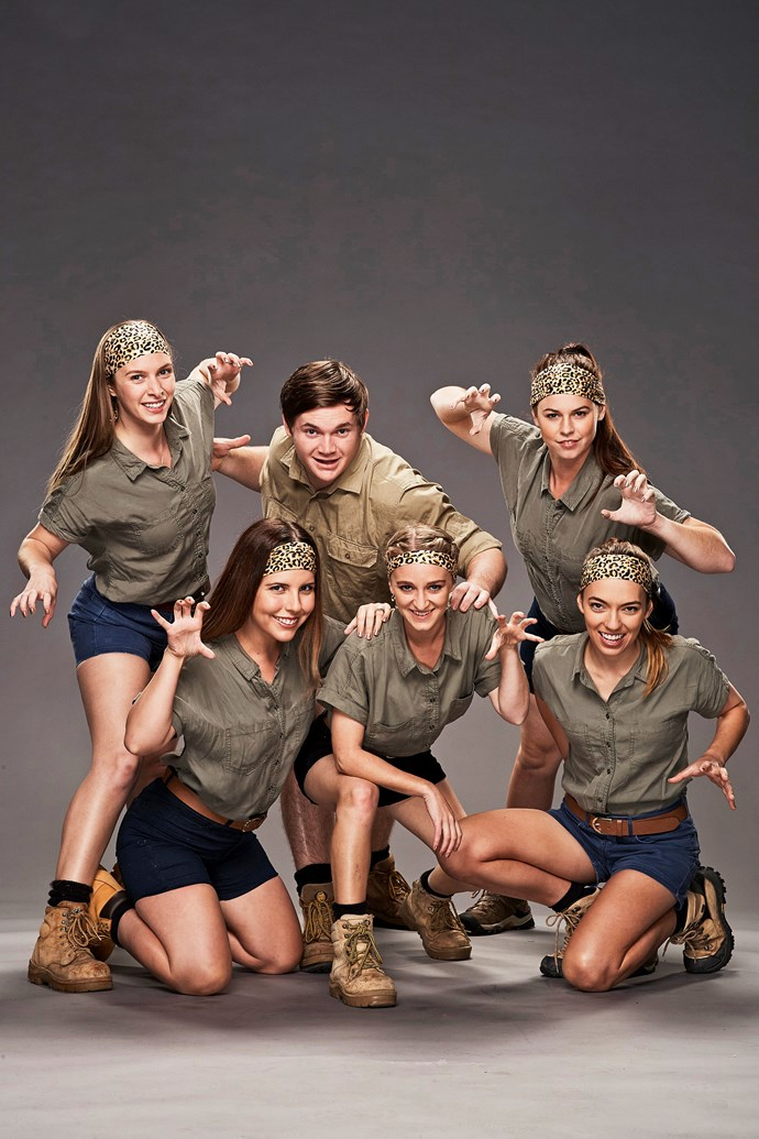 **THE ZOOKEEPERS**  Clockwise from top left: Emma, 26, mammal keeper; Sam, 22, zookeeper; Melany, 24, zookeeper; Richelle, 23, marine mammal trainer; Lauren, 26, wildlife presenter and trainer; and Candice, 28, zookeeper.