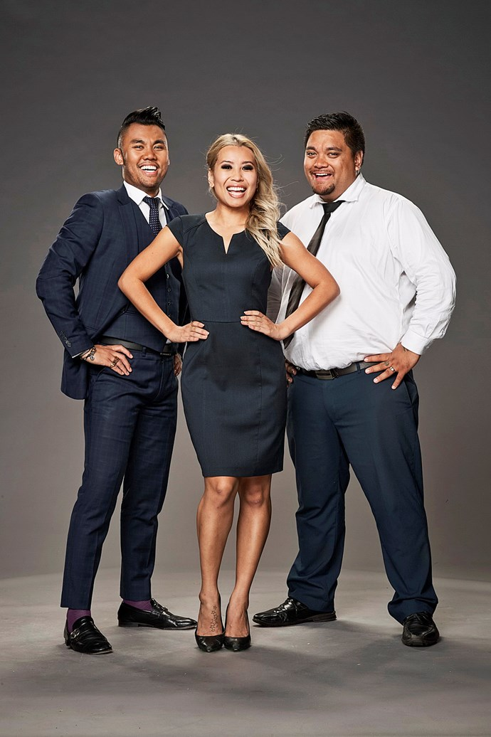 **THE CAR DEALERS**  Aron (right), 27, is a salesman, while Natalie, 28, and Joshua, 27, are both finance business managers.