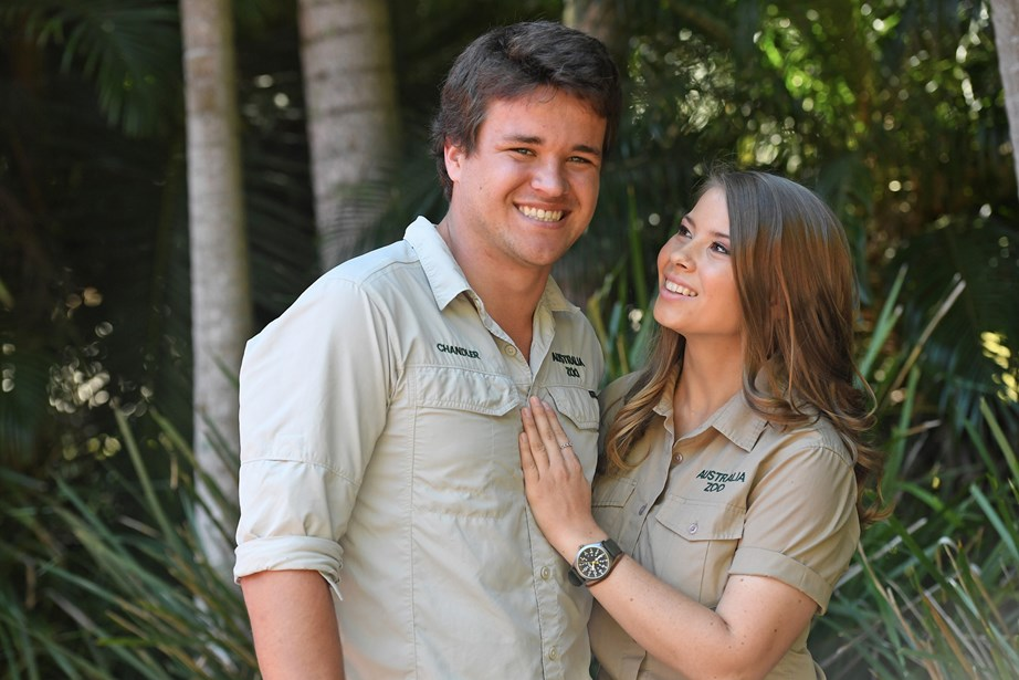 Bindi with her boyfriend of five years, Chandler.