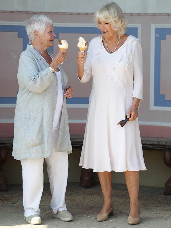 Dame Judi and Duchess Camilla had a splendid day together.