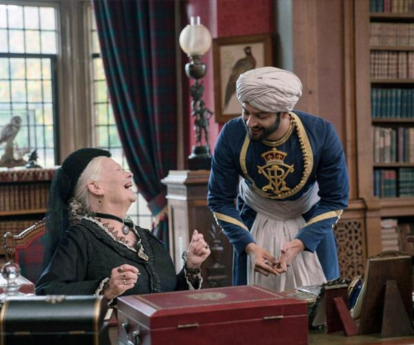 The award-winning actress with her costar Ali Fazal in *Victoria and Abdul*.