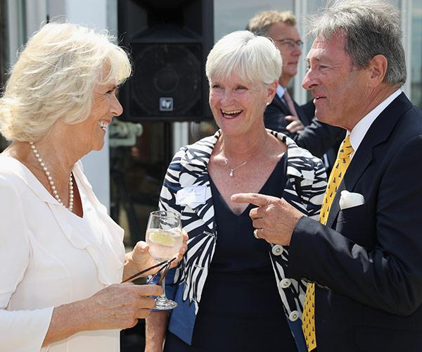 This is Camilla's second visit to the iconic location.