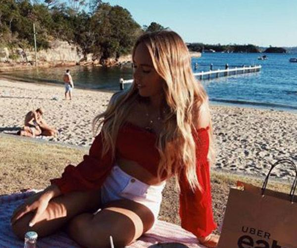 Beach babe Cass also enjoys spending time at the stunning harbour-side spot.
