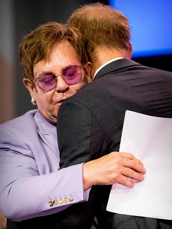 Elton performed for guests at Harry and Meghan's wedding reception in Windsor.