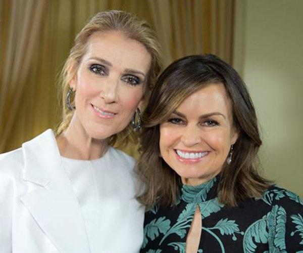 Lisa, pictured with Celine Dion, has been landing many of the A-list interviews on *The Project* and was sent to London to cover the Royal Wedding.