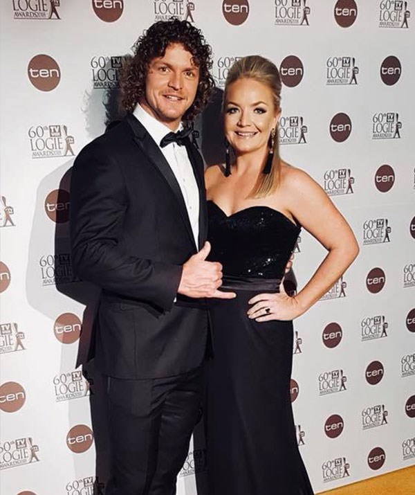 His VIP date! The sports star, pictured with sister Bernadette, brought along his sister's to the TV WEEK Logies.  *(Image/Facebook)*