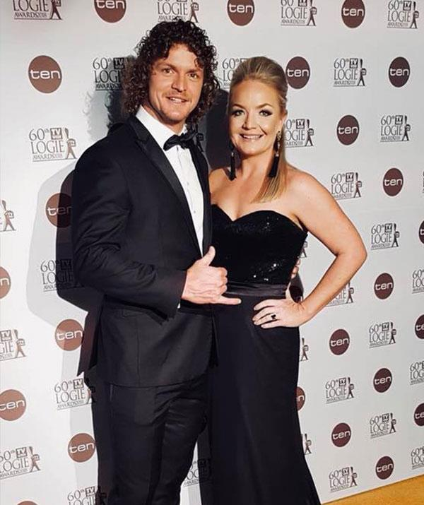 His VIP date! The sports star, pictured with sister Bernadette, brought along his sister's to the TV WEEK Logies.