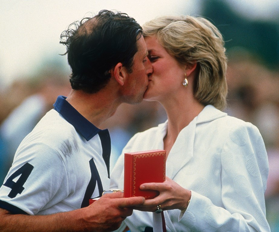 Diana was never shy to show her affection for Charles.