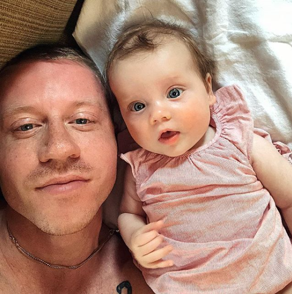 Musician Macklemore (Ben Haggerty) and wife Tricia Davis welcomed their second daughter, Colette Koala, in May. This blue-eyed cutie is a little sister to two-and-a-half-year-old Sloane Ava.