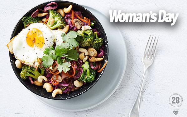 For more incredible interviews and stories, including the recipe to Snez's go-to stir fry, pick up the latest issue of *Woman's Day*!