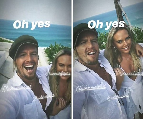 Sam's Instagram stories show the BiP star living it up with Cass Wood a contestant from The Honey Badger's series of *The Bachelor*.