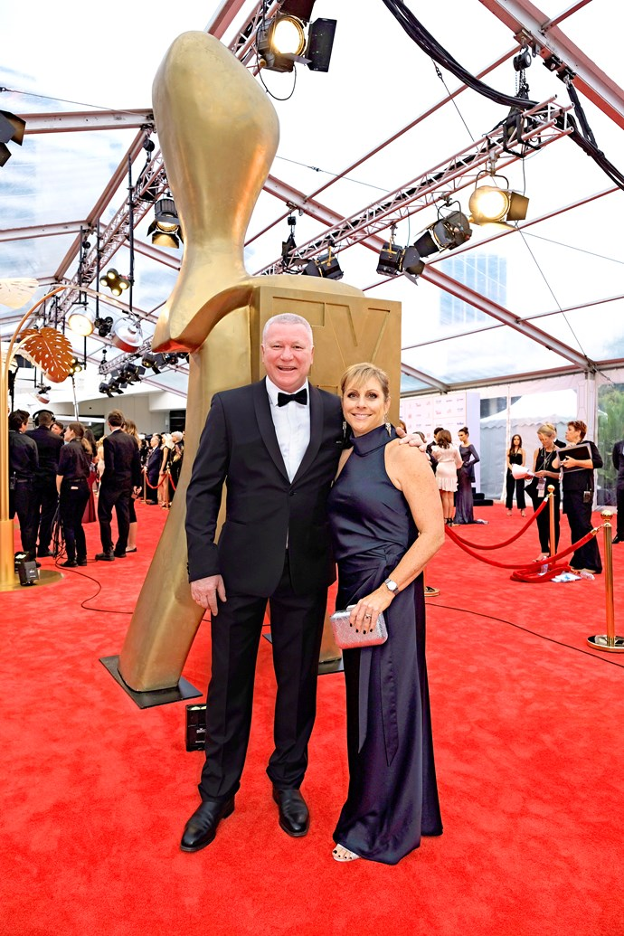 Scott Cam with his wife Ann at the 2018 TV WEEK Logie Awards.