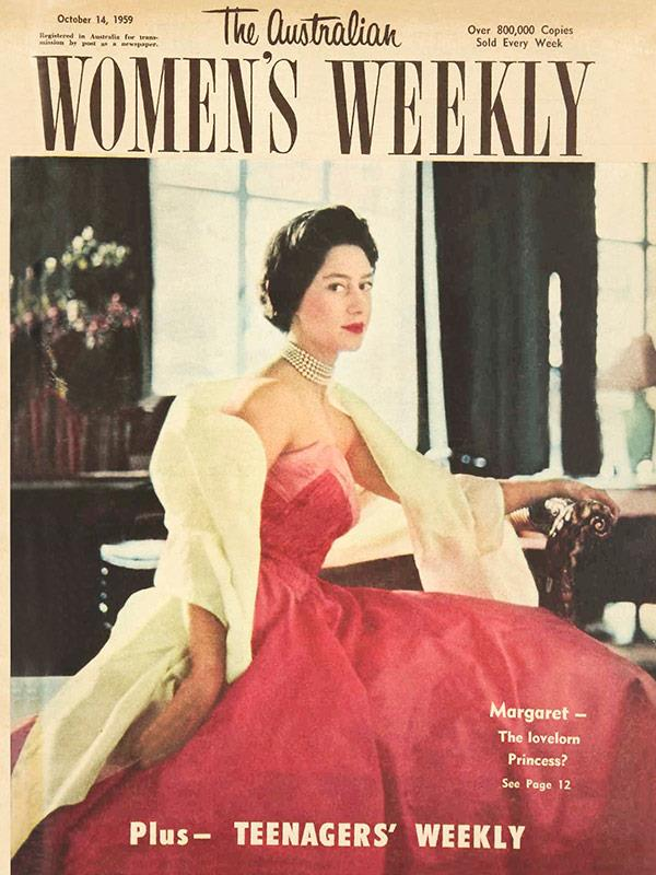 """October 1959: """"Margaret – the lovelorn Princess?"""" *The Weekly* asked. It later emerged she was secretly engaged to Armstrong-Jones."""