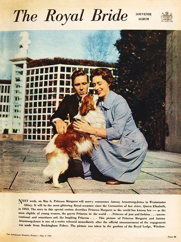 May 1960: *The Royal Wedding Souvenir Album* featured informal photos of Armstrong-Jones and Margaret.