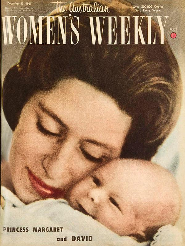 December 1961: Princess Margaret with her son, David, Viscount Linley, photographed by her husband the Earl of Snowdon when the baby was just 18 days old.