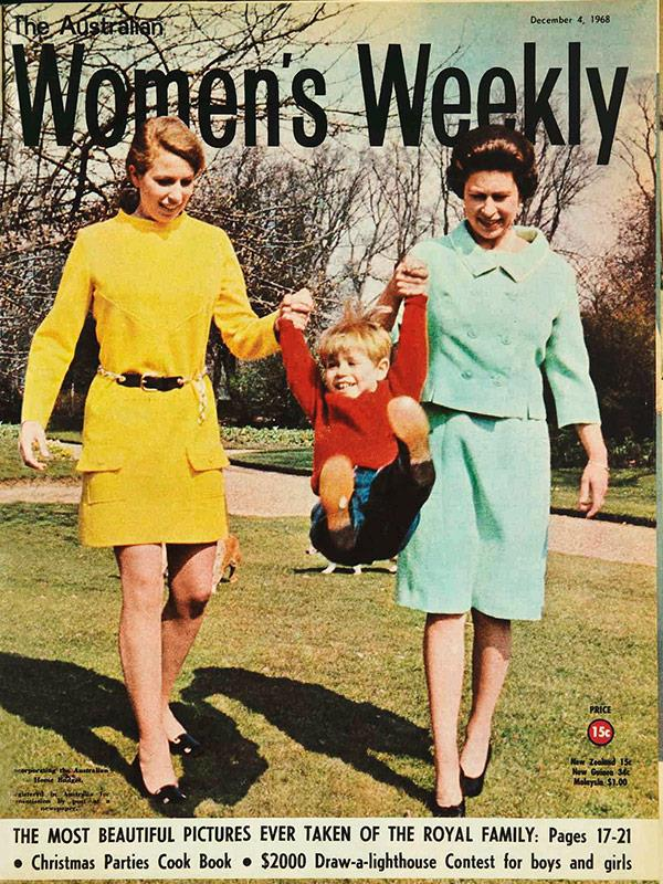 December 1968: Photographer Reginald Davis was given exclusive access to take a series of candid, modern family photos at Windsor Castle.
