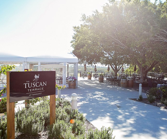Stunning eating options abound at Sirromet Winery. The Tuscan Terrace is a casual dining experience with gorgeous Tuscan-style food and views to remember.