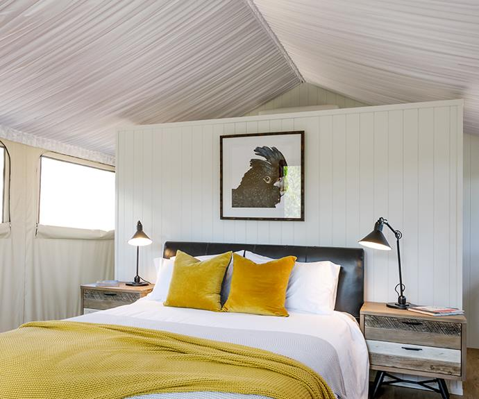Each tented pavilion contains an ensuite and plenty of room to relax.
