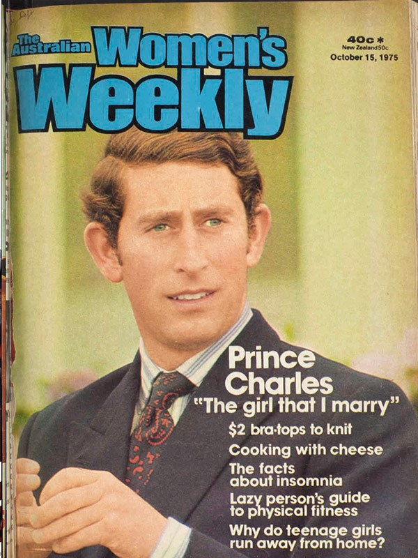 "October 1975: Prince Charles says he is""afraid of marriage."""