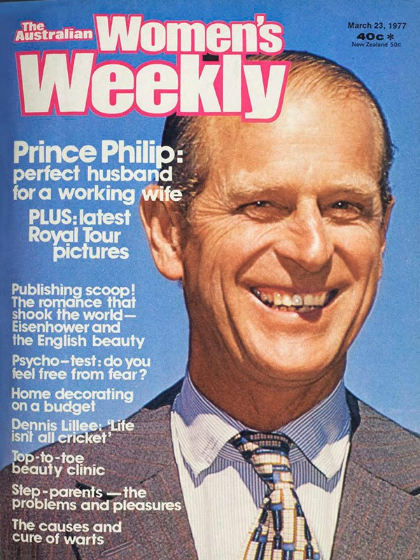 "March 1977: Philip, ""Occasionally controversial, always forthright""."
