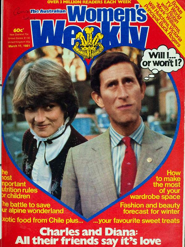March 1981: The announcement of the couple's engagement was preceded by months of breathless speculation.