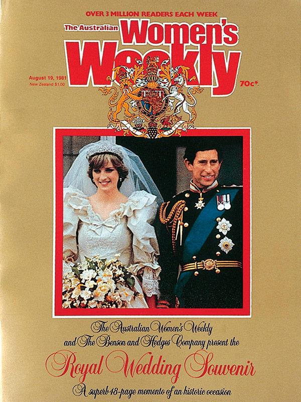 August 1981: *The Weekly*'s Royal Wedding Souvenir issue featured a 48-page memento liftout and a wedding poster.