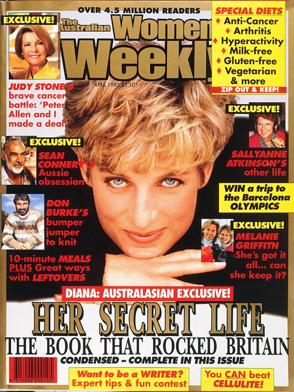 April 1992: Lady Colin Campbell's revealing *Diana In Private* was serialised.