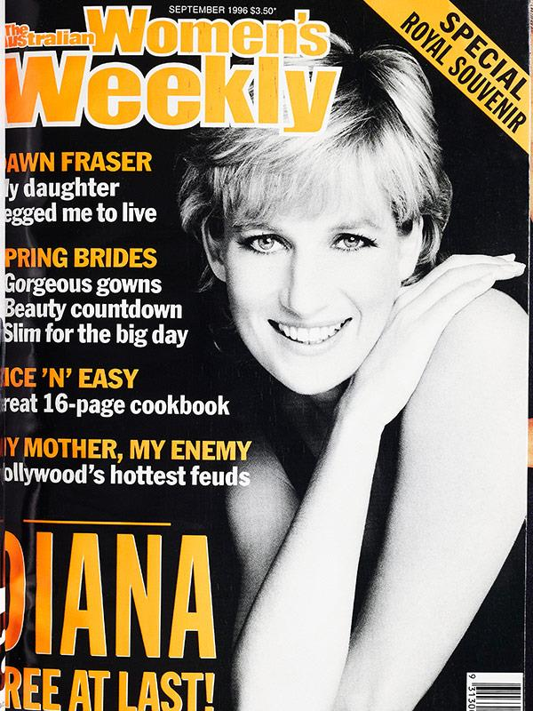 "September 1996: Special Royal Souvenir: ""Diana free at last."""