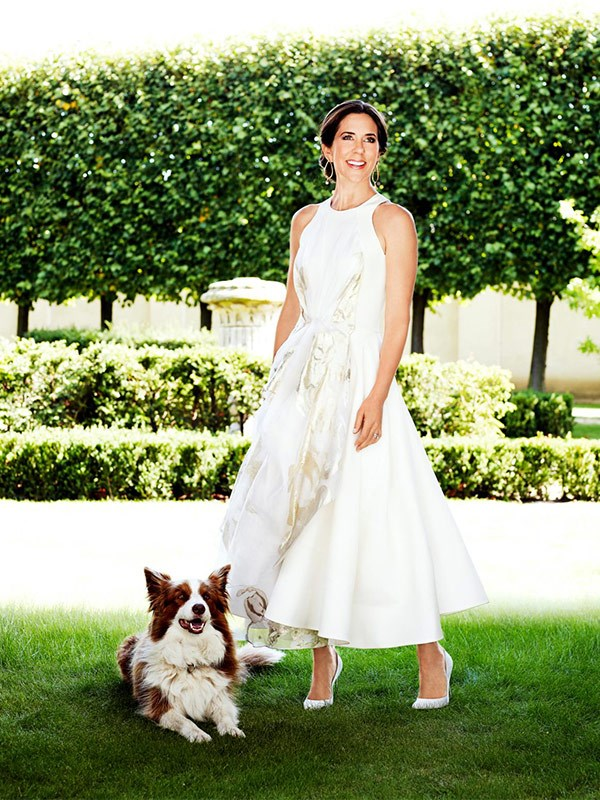 2013: Crown Princess Mary, photographed with her dog, Ziggy, for *The Weekly*'s 80th birthday issue .