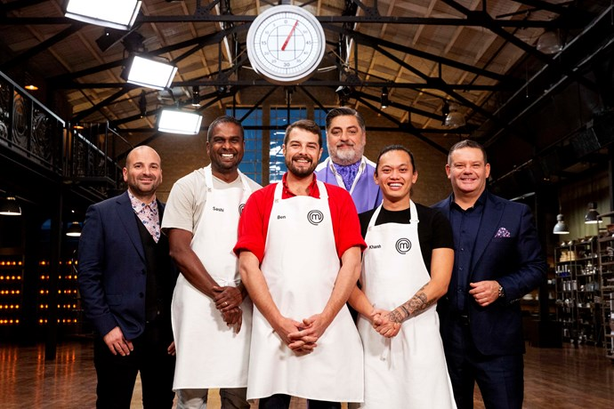 The MasterChef top three.