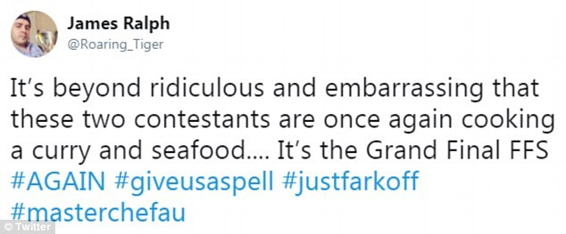 Social media went into meltdown as they described their food choices as 'ridiculous' and embarrassing'.