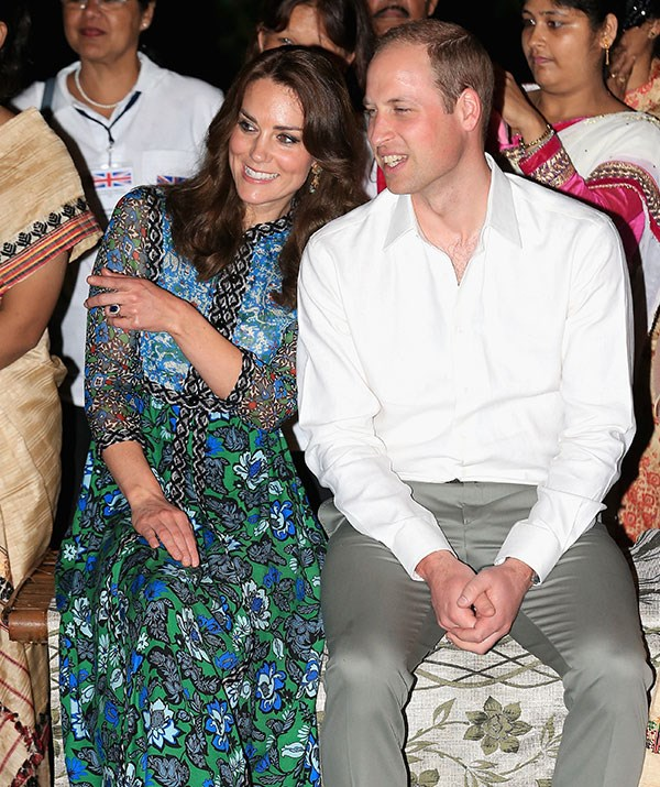 Royals ruling the dance floor: Just imagine Kate and William busting out in gold outfits!