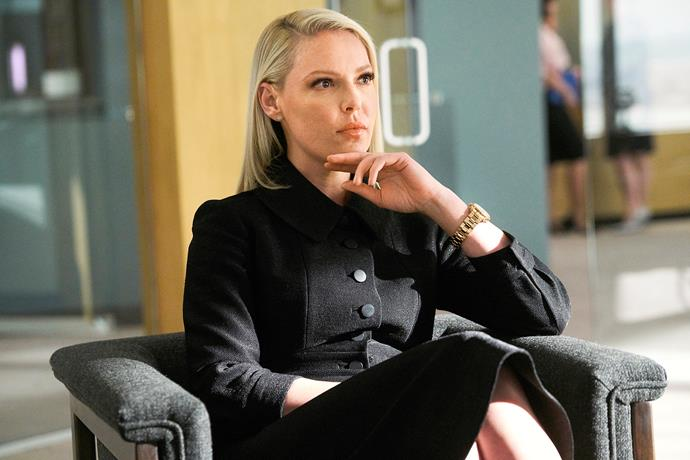 Katherine in her role as tough nut lawyer Samantha.