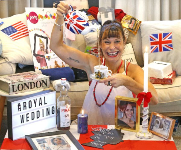 """""""This time I wore the British flag with a tiara and became Queen Beks for the day."""" **Photos are exclusive property of Take 5.**"""