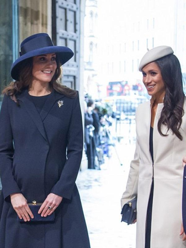 It's not easy being thrust into the spotlight, but Catherine is showing Meghan the ropes.