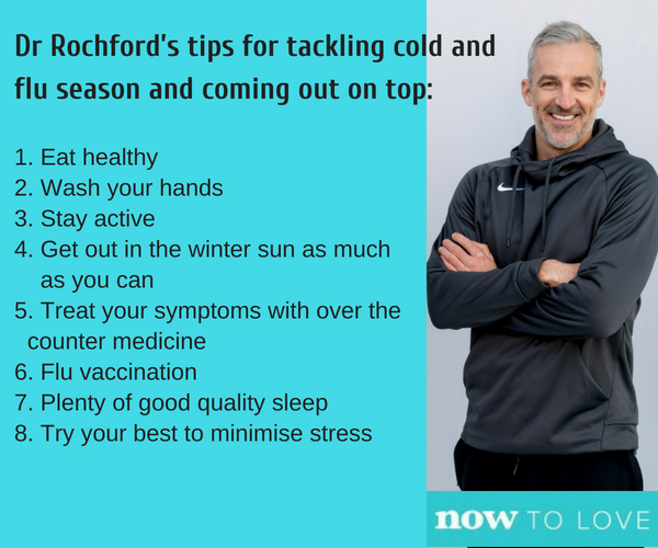 """""""Make sure you give yourself time to rest and listen to your body too,"""" says Dr Andrew Rochford."""