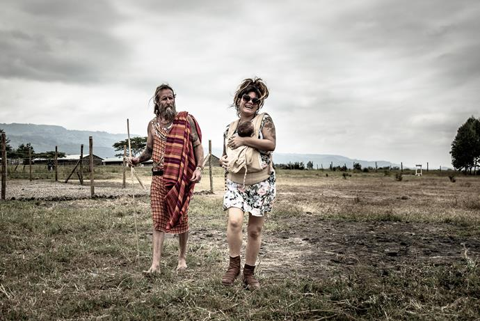 Constance Hall and husband Denim Cooke had no qualms about taking newborn, Raja to Kenya. Image: @UAVisuals