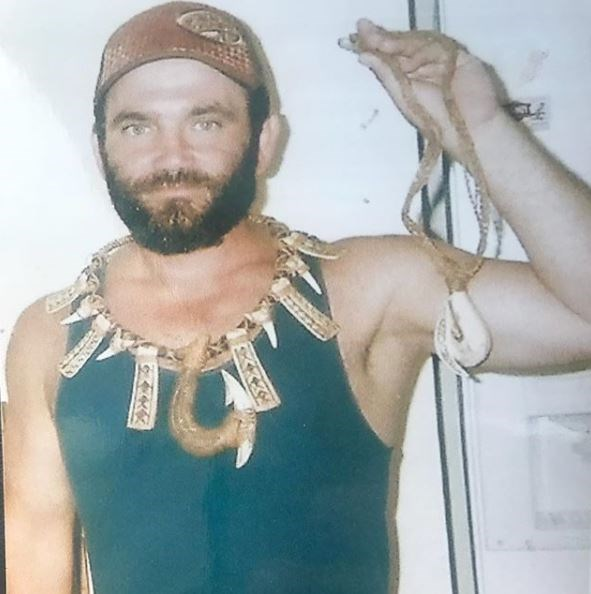 Russell shared this pic from the day he came back from *Survivor* season 19 in Samoa.