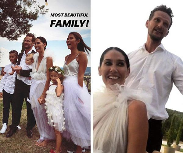 The bride wore a Toni Matičevski wedding dress to marry her partner of two years. *Image credit: Instagram*