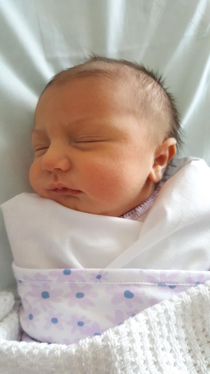 Newborn Lilly was a great feeder for the first three months of her life, then things changed. Image: Supplied.