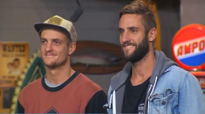**The Block: Glasshouse (Season 9)**   It was a first for the series, when brothers Shannon and Simon Voss from *The Block: Glasshouse* left a phone underneath a bed to hear what the judges had to say about their room. They were caught out, and served a serious talking-to from host Scott Cam.