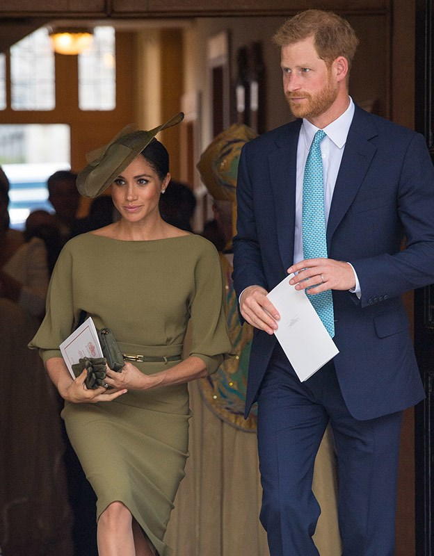 Meghan at Prince Louis' christening.