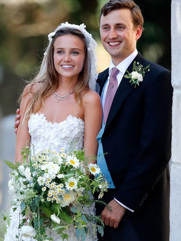 The happy couple, Charlie Van Straubenzee and Daisy Jenks.